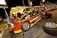 22-25 January, 2009, Daytona Beach, Florida USA.#77 Doran Racing Ford/Dallara of  Matteo Bobbi, Fabrizo Gollin, Brad Jaeger & Memo Gidley makes a pit stop..©F.Peirce Williams 2009.F.Peirce Williams.photography