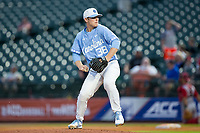 North Carolina Tar Heels starting pitcher J.B. Bukauskas (38) in action against the North Carolina State Wolfpack in Game Twelve of the 2017 ACC Baseball Championship at Louisville Slugger Field on May 26, 2017 in Louisville, Kentucky.  The Tar Heels defeated the Wolfpack 12-4 to advance to the semi-finals.  (Brian Westerholt/Four Seam Images)