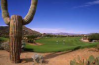 Famous Golf Course above Phoenix Arizona called The Boulders exclusive golfin