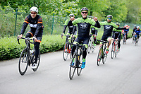 20180501 - DOORNIK , BELGIUM : Triathletes Bekina Triathlon Team Oudenaarde pictured during The Belgian Championship Team Triathlon Man and Women , a Team Triathlon in Doornik , Tuesday 1 st May 2018 , PHOTO SPORTPIX.BE | STIJN AUDOOREN