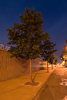 Mysterious Street Scene at Dusk in the Vinegar Hill Neighborhood of Brooklyn, New York City, New York State USA