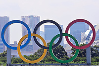 TOKYO, JAPAN - JULY 19 :  the Olympic Rings pictured prior to the Tokyo 2020 Summer Olympic Games on July 19, 2021 in Tokyo, Japan, 19/07/2021<br /> Photo Photonews / Panoramic / Insidefoto <br /> ITALY ONLY