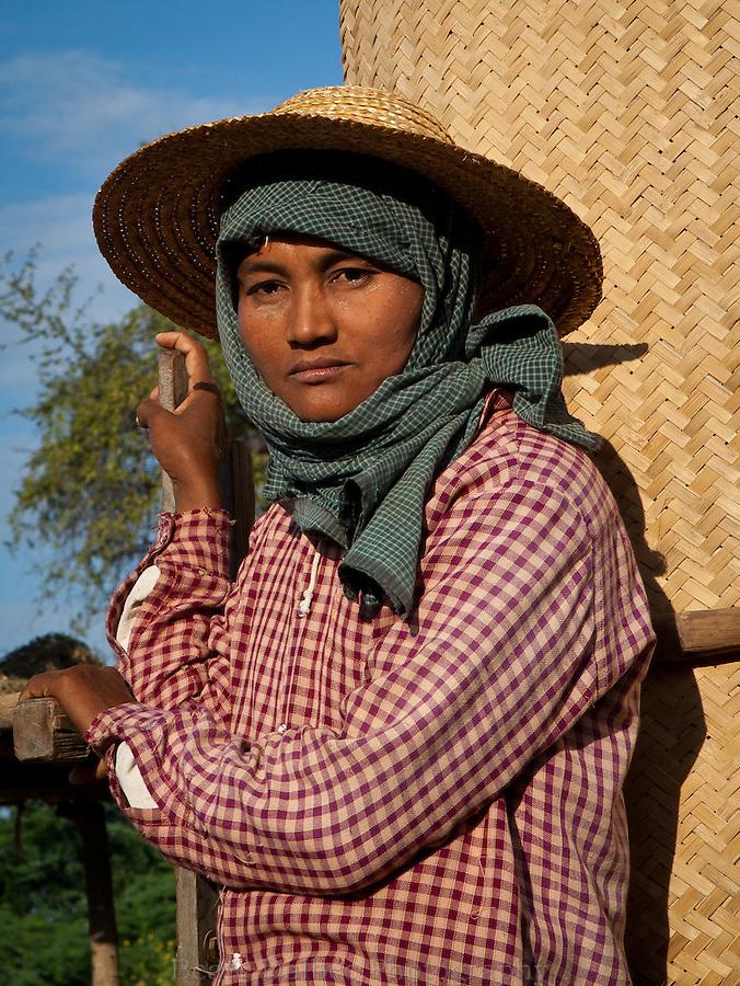 portrait of a farmer in Bagan, Myanmar