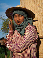 portrait of a farmer in Bagan, Myanmar