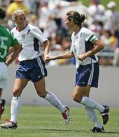 Kristine Lilly, left, Julie Foudy, right, USA v Mexico, 2004.