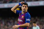 Luis Alberto Suarez Diaz of FC Barcelona reacts during the La Liga 2018-19 match between FC Barcelona and Real Betis at Camp Nou, on November 11 2018 in Barcelona, Spain. Photo by Vicens Gimenez / Power Sport Images