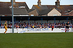 Lowestoft Town 2 Barrow 3, 25/04/2015. Crown Meadow, Conference North. Barrow make the six-hour trip to Suffolk needing a win to secure the title. Barrow rising once again. Photo by Simon Gill.
