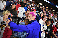 Saint Paul, MN - SEPTEMBER 03: Megan Rapinoe #15 of the United States during their 2019 Victory Tour match versus Portugal at Allianz Field, on September 03, 2019 in Saint Paul, Minnesota.