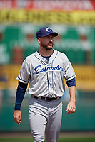 Columbus Clippers pitcher Cole Sulser (46) during a game against the Rochester Red Wings on August 9, 2017 at Frontier Field in Rochester, New York.  Rochester defeated Columbus 12-3.  (Mike Janes/Four Seam Images)