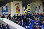 Chester City 1 Altrincham 3, 21/11/2009. Deva Stadium, Football Conference. Home supporters in the West Stand watching the first-half action at the Deva Stadium, Chester, home of Chester City Football Club (in blue), during the club's Blue Square Premier fixture against Cheshire rivals Altrincham. The visitors won by three goals to one. Chester were in administration at the start of the season and were penalised 25 points before the season began. Photo by Colin McPherson.