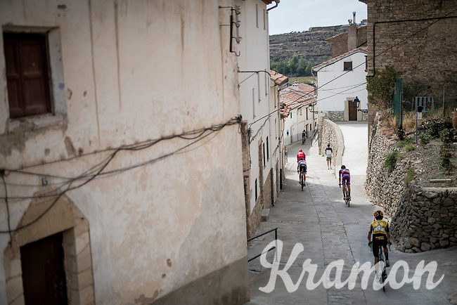 rolling back towards the teambusses after the stage<br /> <br /> Stage 6: Mora de Rubielos to Ares del Maestrat (199km)<br /> La Vuelta 2019<br /> <br /> ©kramon