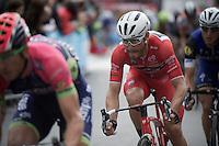 Maglia Rossa Giacomo Nizzolo (ITA/Trek-Segafredo)<br /> <br /> stage 21: Cuneo - Torino 163km<br /> 99th Giro d'Italia 2016