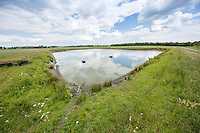 10 million gallon clay lined irrigation reservoir - Lincolnshire, June