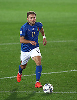 Football: Uefa Nations League Group A match Italy vs Netherlands at Gewiss stadium in Bergamo, on October 14, 2020.<br /> Italy's Ciro Immobile in action during the Uefa Nations League match between Italy and Netherlands at Gewiss stadium in Bergamo, on October 14, 2020. <br /> UPDATE IMAGES PRESS/Isabella Bonotto