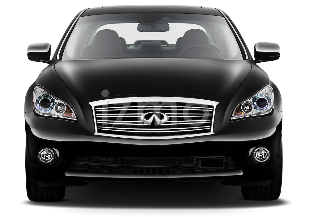 Straight front view of a 2012 Infiniti M Hybrid