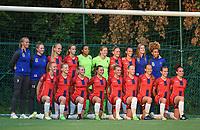 20170825 - WONDELGEM , BELGIUM : Team of VV Alkmaar withPaulina Quaye (1)  ,  Jasmijn Duppen (2)  ,  Amber Wuring (4)  ,  Ingrid Schuiten (6)  ,  Sanne van der Velden (7)  ,  Amy Visser (8)  ,  Katja Snoeijs (9)  ,  Kerstin Casparij (10)  ,  Simone Kets (10)  ,  Anna Knol (13)  ,  Niekie Pellens (23) ,  Nicolle Martens (16)  ,  Jamie Altelaar (5)  ,  Simone Hand (18)  ,  Cherise Schelts (R up)   pictured during a friendly game between KAA Gent Ladies and VV Alkmaar  during the preparations for the 2017-2018 season , Friday 25 August  2017 ,  PHOTO Dirk Vuylsteke | Sportpix.Be