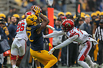 West Virginia Mountaineers wide receiver Gary Jennings (12) in action during the Zaxby's Heart of Dallas Bowl game between the Utah Utes vs. West Virginia Mountaineers at the Cotton Bowl Stadium in Dallas, Texas.