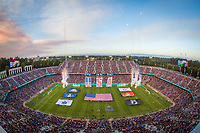 Stanford, CA - Saturday June 30, 2018: Pre-game prior to a Major League Soccer (MLS) match between the San Jose Earthquakes and the LA Galaxy at Stanford Stadium.