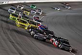 #18: Noah Gragson, Kyle Busch Motorsports, Toyota Tundra Safelite AutoGlass, #8: John Hunter Nemechek, NEMCO Motorsports, Chevrolet Silverado Fleetwing/D.A.B. Construction