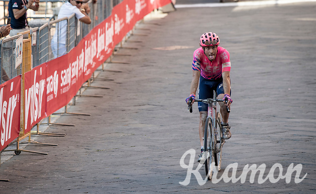 Alberto Bettiol (ITA/EF Education First) rolling in 4th<br /> <br /> 14th Strade Bianche 2020<br /> Siena > Siena: 184km (ITALY)<br /> <br /> delayed 2020 (summer!) edition because of the Covid19 pandemic > 1st post-Covid19 World Tour race after all races worldwide were cancelled in march 2020 by the UCI