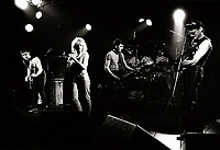 April 10 1983, Montreal (Qc) CANADA - CORBEAU in concert at Club Soda.<br /> <br /> Photo by Denis Alix