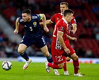 4th September 2021; Hampden Park, Glasgow, Scotland: FIFA World Cup 2022 qualification football, Scotland versus Moldova: Andy Robertson of Scotland breaks inside his marker