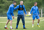 St Johnstone Training…12.05.17<br />Steven Anderson and Graham Cummins pictured during training today ahead of tomorrow's game against Partick Thistle<br />Picture by Graeme Hart.<br />Copyright Perthshire Picture Agency<br />Tel: 01738 623350  Mobile: 07990 594431