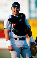 Rod Barajas of the High Desert Mavericks participates in a minor league baseball game during the 1998 season at San Manuel Stadium in San Bernardino, California. (Larry Goren/Four Seam Images)