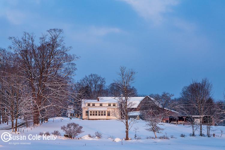 Winter sunrise in Hartford, VT, USA