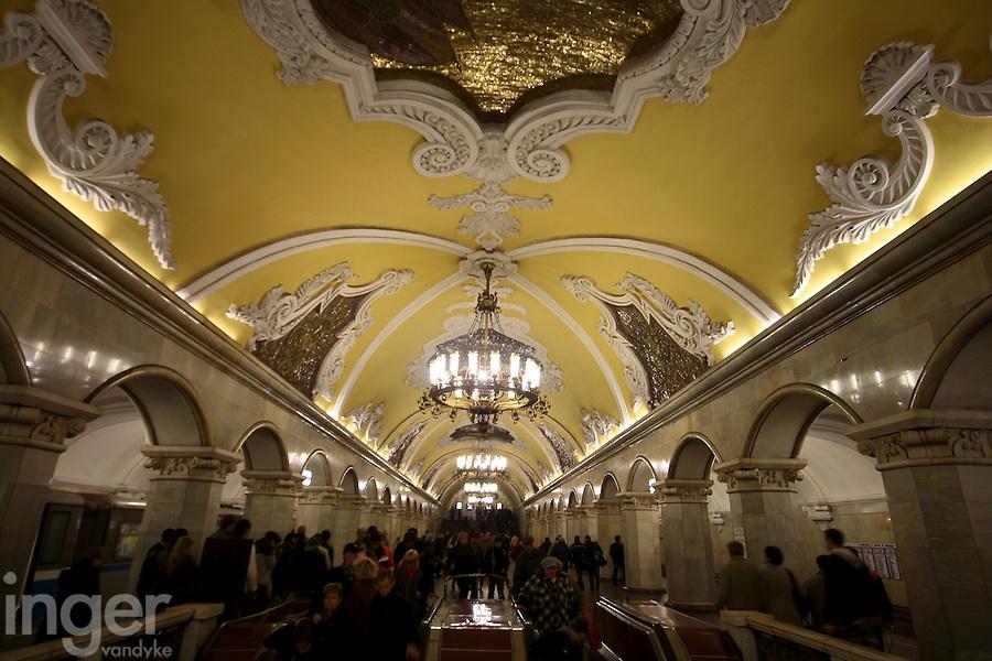 Komsomolskaya Tube Station in Moscow, Russia