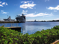 Pearl Harbor, United States Naval Base, located on Oahu, Hawaii.