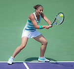 Sara Errani (ITA) loses to Maria Sharapova (RUS) 7-5, 7-5 at the Sony Open being played at Tennis Center at Crandon Park in Miami, Key Biscayne, Florida on March 27, 2013