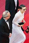 """70eme Festival International du Film de Cannes. Montee de la ceremonie de cloture, vues du toit du Palais . 70th International Cannes Film Festival. Vew from rof top of closing red carpet<br /> Mara, Rooney (""""Patricia """")"""