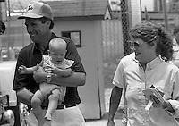 Darrell Waltrip wife Stephie Waltrip daughter Jessica Waltrip  Pepsi Firecracker 400 at Daytona International Speedway in Daytona Beach, FL in July 1988. (Photo by Brian Cleary/www.bcpix.com)