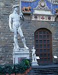 Florence, Italy:  Michelangelo's David in the Piazza della Signoria