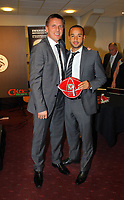 Pictured L-R: Tony Pennock with Ashley Jazz Richards. Thursday 10 May 2012<br />