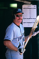 OAKLAND, CA - Wade Boggs of the Tampa Bay Devil Rays gets ready to bat during a game against the Oakland Athletics at the Oakland Coliseum in Oakland, California in 1998. Photo by Brad Mangin