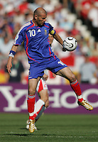 Zinedine Zidane of France. France and Switzerland played to a 0-0 tie in their FIFA World Cup Group G match at the Gottlieb-Daimler-Stadion, Stuttgart , Germany, on Tuesday, June 13, 2006.