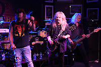 BOCA RATON - FEBRUARY 26: Bobby Ingram, Jimmy Elkins and Tim Lindsey of Molly Hatchet perform at The Funky Biscuit on February 26, 2021 in Boca Raton, Florida. Credit: mpi04/MediaPunch