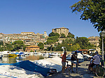 Italien, Latium, Anguillara Sabazia am Lago di Bracciano - Yachthafen | Italy, Lazio, Anguillara Sabazia at Lago di Bracciano - yacht harbour