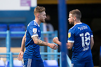 Alan Judge of Ipswich Town congratulates goalscorer Teddy Bishop of Ipswich Town during Ipswich Town vs Wigan Athletic, Sky Bet EFL League 1 Football at Portman Road on 13th September 2020