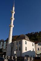 Srebrenica / Republika Srpska 2011.<br /> Moschea ricostruita nel dopoguerra con fondi dell'Arabia Saudita.<br /> Mosque rebuilt after the war with funds of Saudi Arabia.<br /> Foto Livio Senigalliesi