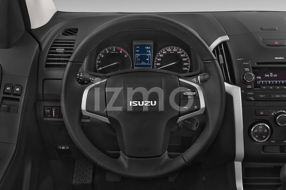 Car pictures of steering wheel view of a 2015 Isuzu D-Max L+ 4 Door Pickup 2WD Steering Wheel