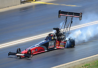Jul, 21, 2012; Morrison, CO, USA: NHRA top fuel dragster driver David Grubnic during qualifying for the Mile High Nationals at Bandimere Speedway. Mandatory Credit: Mark J. Rebilas-US PRESSWIRE