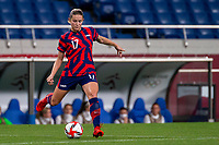 SAITAMA, JAPAN - JULY 24: Abby Dahlkemper #17 of the United States during a game between New Zealand and USWNT at Saitama Stadium on July 24, 2021 in Saitama, Japan.