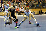 Berlin, Germany, February 10: During the FIH Indoor Hockey World Cup semi-final match between Belarus (dark blue) and Germany (white) on February 10, 2018 at Max-Schmeling-Halle in Berlin, Germany. Final score 2-3. (Photo by Dirk Markgraf / www.265-images.com) *** Local caption *** Franzisca HAUKE #21 of Germany