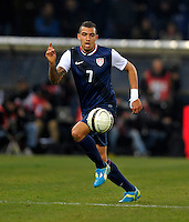 GENOVA, ITALY - February 29, 2012: Danny Williams (USA) during the USA friendly match against Italy at the Stadium Luigi Ferraris in Genova, Italy.