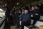 Chorley 2 Altrincham 0, 21/01/2017. Victory Park, National League North. Home supporters in the main stand rise in celebration as their side score the second goal at Victory Park, as Chorley played Altrincham in a Vanarama National League North fixture. Chorley were founded in 1883 and moved into their present ground in 1920. The match was won by the home team by 2-0, watched by an above-average attendance of 1127. Photo by Colin McPherson.