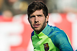 Sergi Roberto Carnicer of FC Barcelona prior to the La Liga match between Atletico de Madrid and FC Barcelona at the Santiago Bernabeu Stadium on 26 February 2017 in Madrid, Spain. Photo by Diego Gonzalez Souto / Power Sport Images