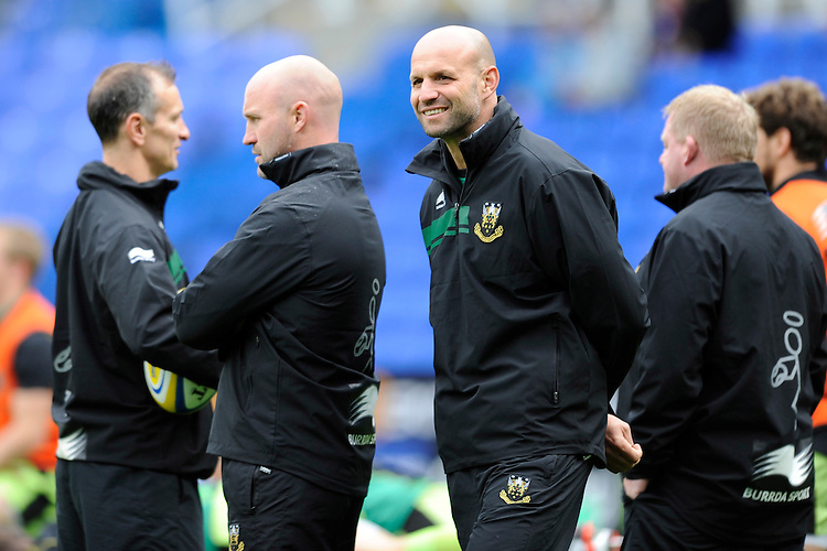Jim Mallinder, Northampton Saints Director of Rugby,  looks relaxed before the Premiership Rugby match between London Irish and Northampton Saints at the Madejski Stadium on Saturday 4th October 2014 (Photo by Rob Munro)